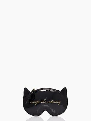 Kate Spade Cat mask coin purse