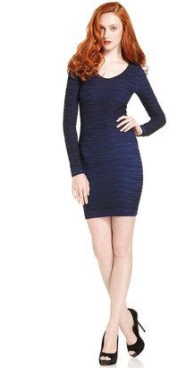 BCBGMAXAZRIA BCBGeneration Dress, Long-Sleeve Scoop-Neck Body-Con Mini