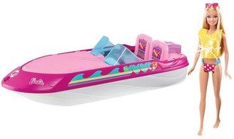 Mattel Barbie doll & speedboat set