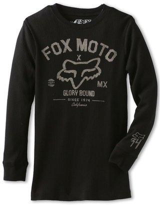 Fox Knowwhere Thermal L/S Top (Big Kids) (Black) - Apparel