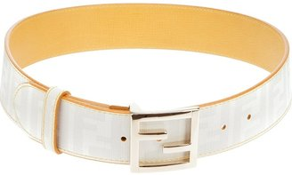 Fendi logo print belt