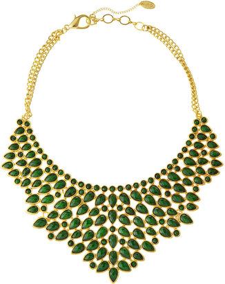 Amrita Singh Teardrop Bib Necklace, Evergreen