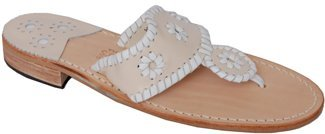 Jack Rogers Navajo - Bone/White Leather Thong