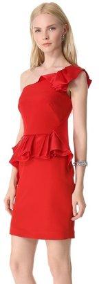 Notte by Marchesa Crepe One Shoulder Cocktail Dress