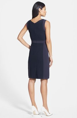 HUGO BOSS BOSS 'Devirin' Stretch Cotton Sheath Dress