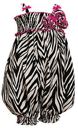 Bonnie Baby Newborn Zebra-Print Woven Party Pants