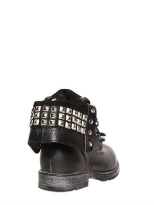 Frye Vintaged Leather Studded Boots