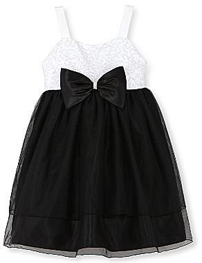 JCPenney Princess Faith Black-and-White Swing Dress- Girls 4-6x