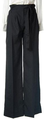 Rag and Bone Pinstripe Tie-Waist Trouser
