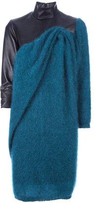 Amaya Arzuaga two-tone knit dress