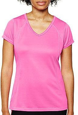 JCPenney XersionTM Recycled Mesh Essential V-Neck Tee