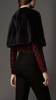 Burberry Sheared Mink Capelet