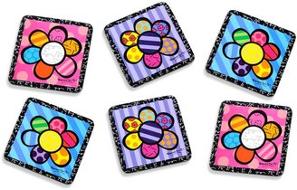 Bed Bath & Beyond BrittoTM by Giftcraft Flowers 4-Inch Cork Coasters (Set of 6)