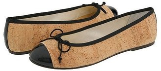 French Sole Vanity (Cork/Black Patent) Women's Slip-on Dress Shoes