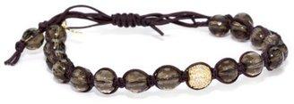 Tai Smoky Quartz with Single Gold Crystal Bracelet
