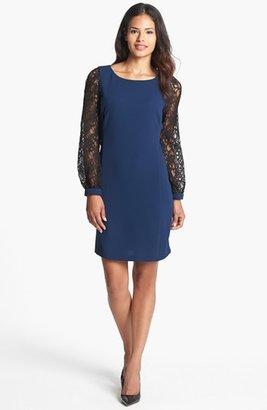 Donna Ricco Lace Sleeve Sheath Dress