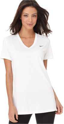 Nike Top, Dri-FIT Legend Short Sleeve V-Neck Tee