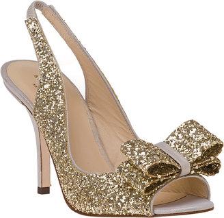 Kate Spade Charm Slingback Pump Ivory Glitter