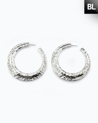 Chico's Black Label Silver Hoop Earring