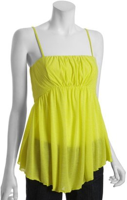 Free People citrus yellow striped 'Easy Breezy' convertible tube top