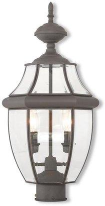 Livex Lighting Monterey 2-Light Outdoor Bronze Post Light