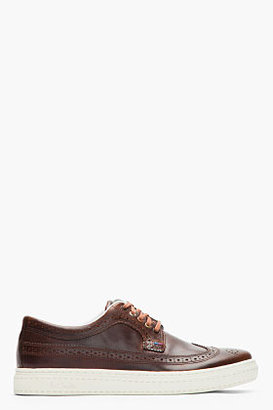 Paul Smith Dark Brown Leather Longwing Merced Sneakers