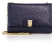 Salvatore Ferragamo Miss Vara Mini Saffiano Leather Bow Bag