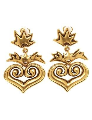 Oscar de la Renta Heart Shaped Earring