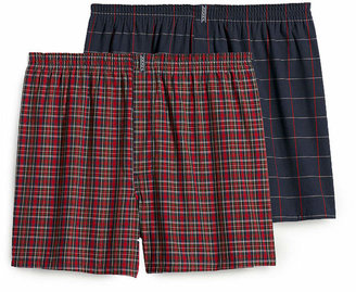 Jockey 2 Pair Full Cut Woven Boxer - Big