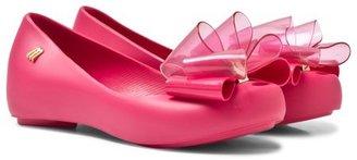 Mini Melissa Hot Pink Double Bow Pumps