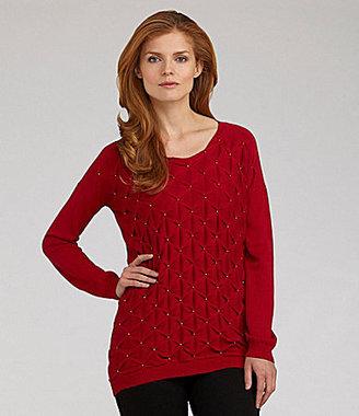 Nurture Tucked Bead Sweater
