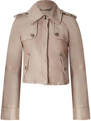 D&G Dolce & Gabbana Powder Cropped Leather Jacket