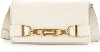 Rachel Zoe Shannon Lobster-Clasp Clutch, French Beige