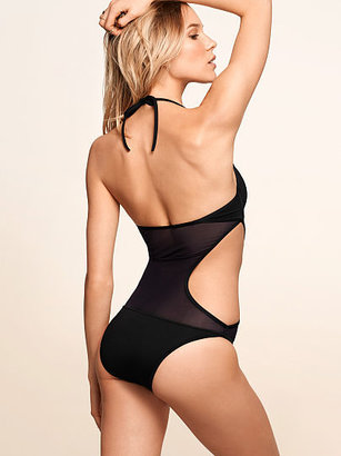 Very Sexy Mesh Cutout One-piece