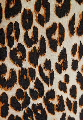 Equipment Underground Leopard Printed Slim Signature Blouse