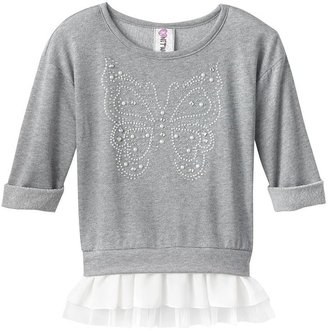 Knitworks jewel butterfly top - girls plus