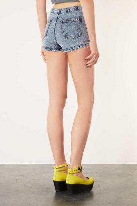 Topshop MOTO Acid High Waist Hotpants