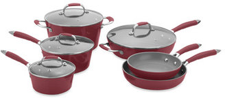 Fagor Michelle B by 10-Piece Forged Aluminum Cookware Set - Red