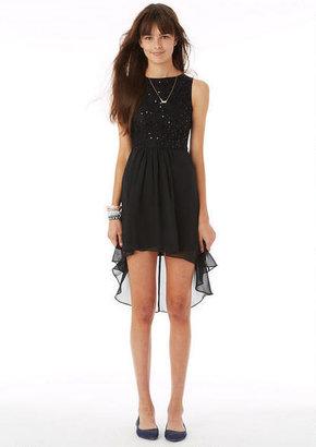 Delia's Black Lace High-Low Dress
