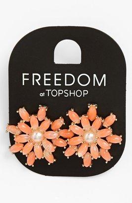 Topshop Pastel Flower Earrings