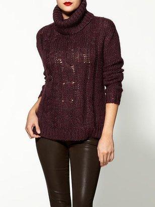 Velvet by Graham & Spencer Oceana Chunky Melange Turtleneck Sweater
