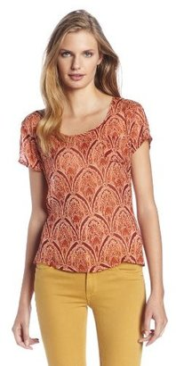 Lucky Brand Women's Addalyn Fiery Arches Tee