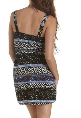 Charlotte Russe Zip-Front Printed A-Line Dress