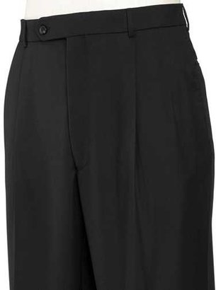 Jos. A. Bank Traveler Pleated Front Trousers Regal Fit - Black Solid or Navy Stripe