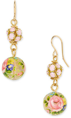 Lenora Dame Floral Glass Drop Earrings