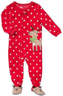 Carter's Reindeer Applique Micro Fleece Blanket Sleeper