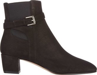 Gianvito Rossi Women's Buckle-Strap Ankle Boots-Black