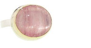 Jamie Joseph Oval Russian Star Pink Tourmaline Ring