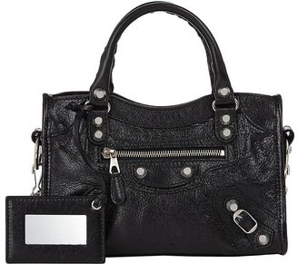 Balenciaga Women's Arena Leather Giant Mini City Bag $1,450 thestylecure.com