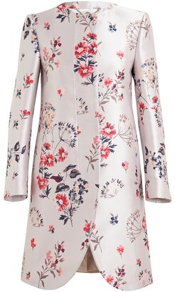 Stella McCartney Floral Jacquard Silk-blend Coat